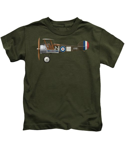 Sopwith Camel - B6313 March 1918 - Side Profile View Kids T-Shirt by Ed Jackson