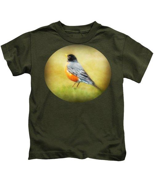 Spring Robin Kids T-Shirt by Anita Faye
