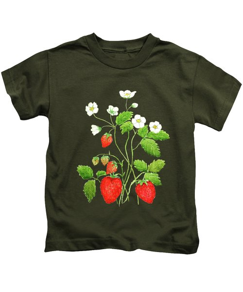 Strawberry  Kids T-Shirt by Color Color