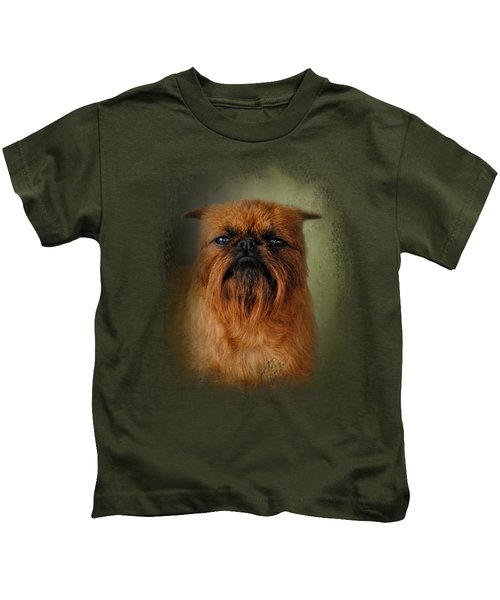 The Brussels Griffon Kids T-Shirt by Jai Johnson