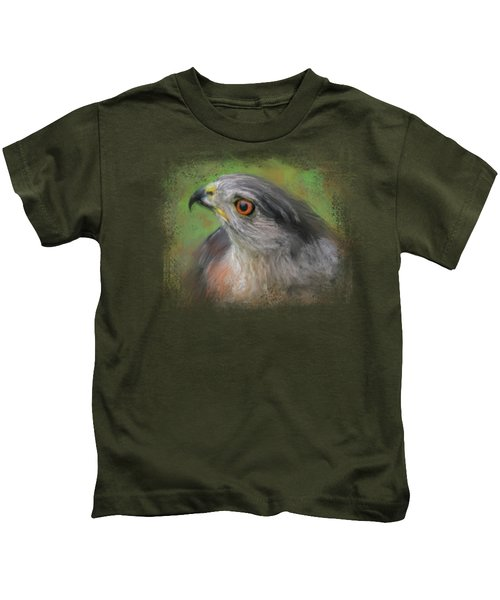 The Sharp Shinned Hawk Kids T-Shirt by Jai Johnson