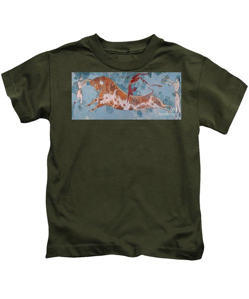 The Toreador Fresco, Knossos Palace, Crete Kids T-Shirt by Greek School