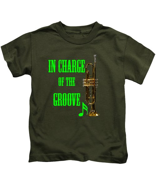Trumpets In Charge Of The Groove 5535.02 Kids T-Shirt by M K  Miller