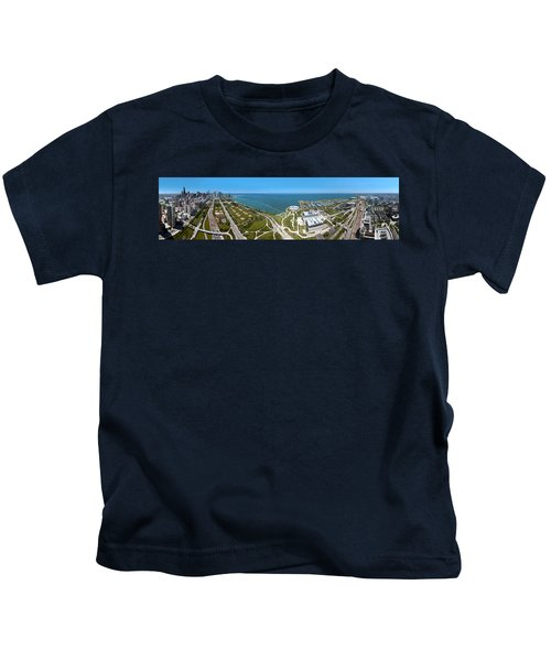 180 Degree View Of A City, Lake Kids T-Shirt by Panoramic Images