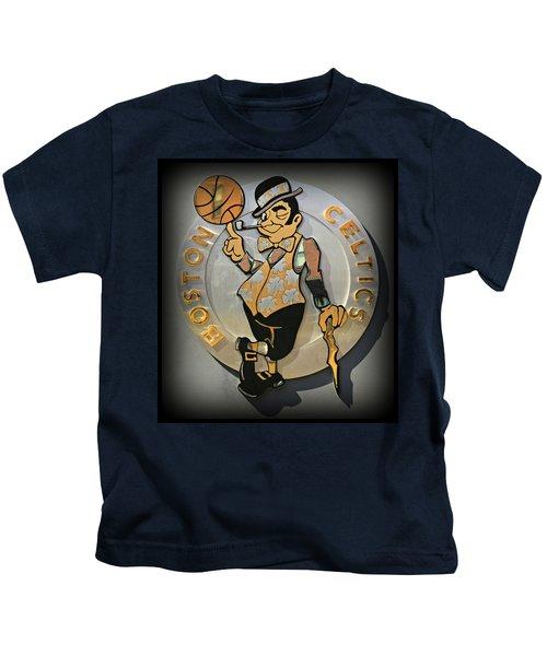 Boston Celtics Kids T-Shirt by Stephen Stookey