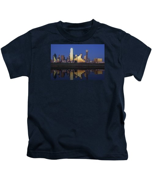 Dallas Twilight Kids T-Shirt by Rick Berk