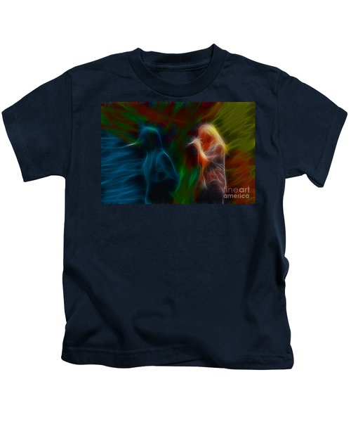 Def Leppard-adrenalize-jor-gb20--fractal Kids T-Shirt by Gary Gingrich Galleries