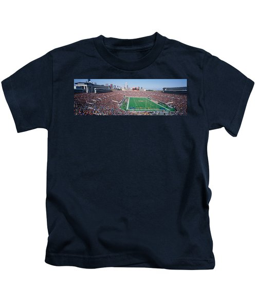 Football, Soldier Field, Chicago Kids T-Shirt by Panoramic Images