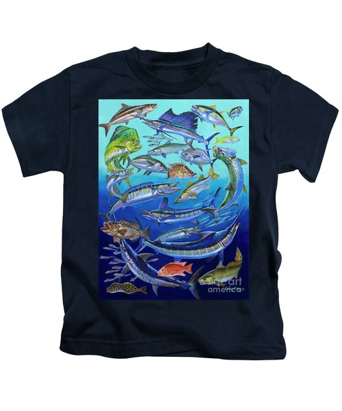 Gamefish Collage In0031 Kids T-Shirt by Carey Chen