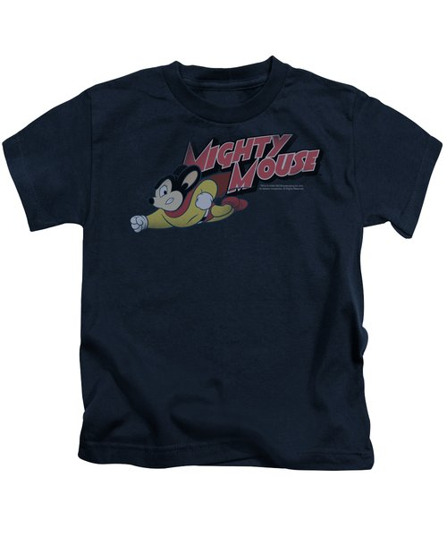 Mighty Mouse - Mighty Retro Kids T-Shirt by Brand A