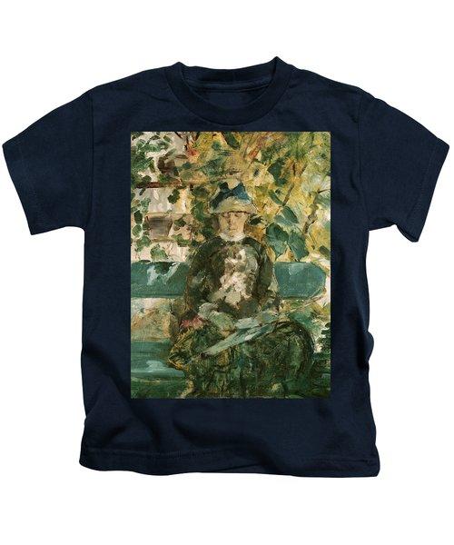 Portrait Of Adele Tapie De Celeyran Kids T-Shirt by Henri de Toulouse-Lautrec
