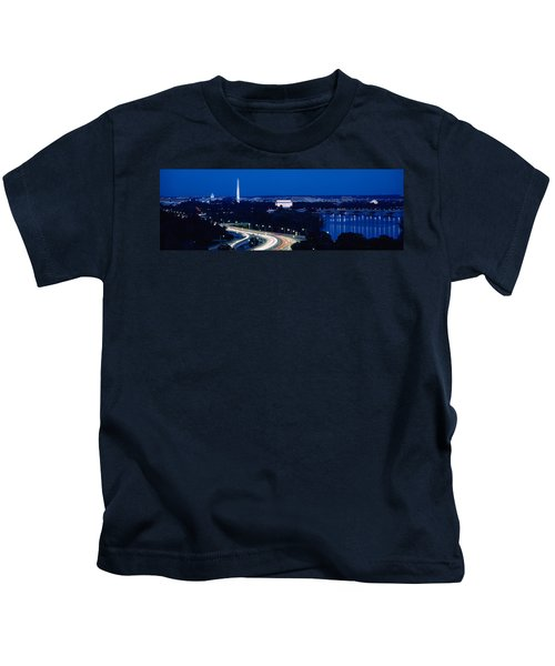 Traffic On The Road, Washington Kids T-Shirt by Panoramic Images