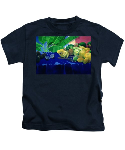 Tropical Fruit Kids T-Shirt by Lincoln Seligman