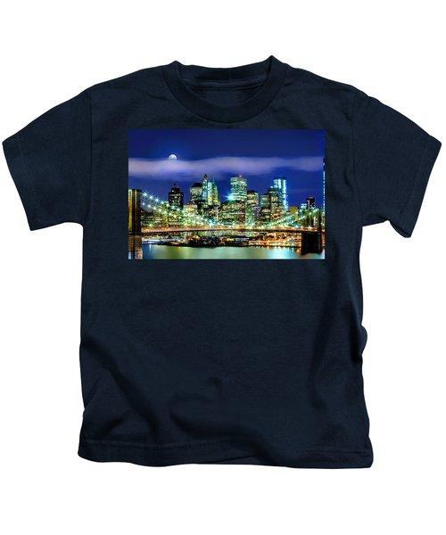 Watching Over New York Kids T-Shirt by Az Jackson