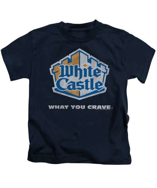 White Castle - Distressed Logo Kids T-Shirt by Brand A
