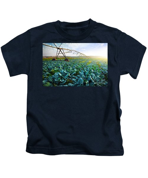Cabbage Growth Kids T-Shirt by Carlos Caetano