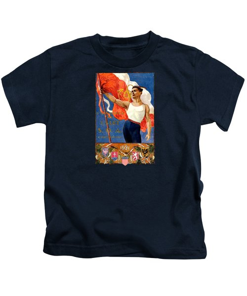 1921 Czech Sokol Of Chicago  Kids T-Shirt by Historic Image