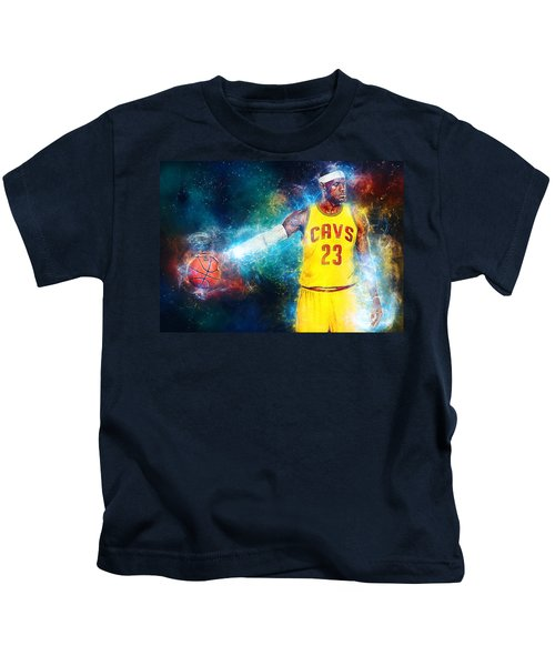 Lebron James Kids T-Shirt by Taylan Apukovska