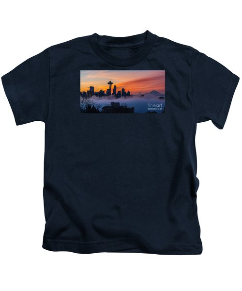 A City Emerges Kids T-Shirt by Mike Reid