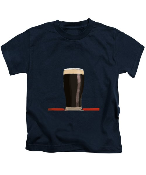 A Glass Of Stout Kids T-Shirt by Keshava Shukla