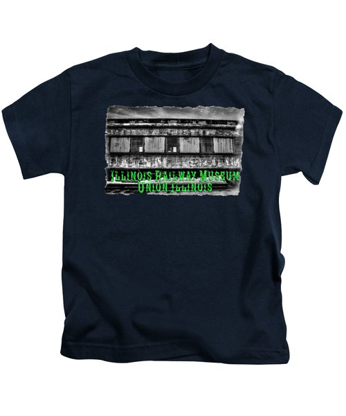 Abandoned Circus Transport Car Kids T-Shirt by Roger Passman