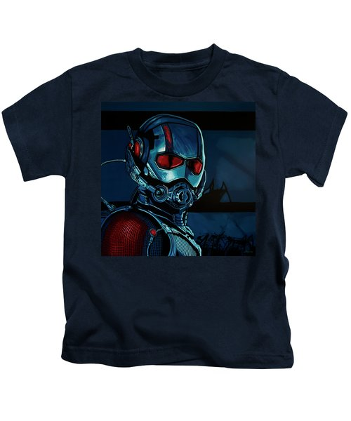 Ant Man Painting Kids T-Shirt by Paul Meijering
