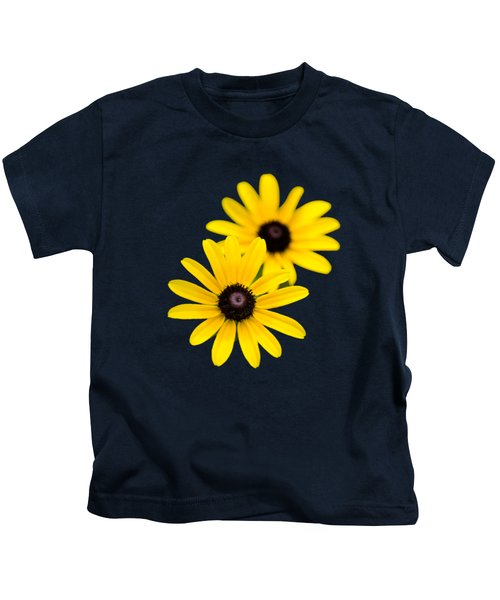 Black Eyed Susans Kids T-Shirt by Christina Rollo