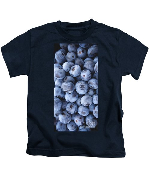 Blueberries Foodie Phone Case Kids T-Shirt by Edward Fielding