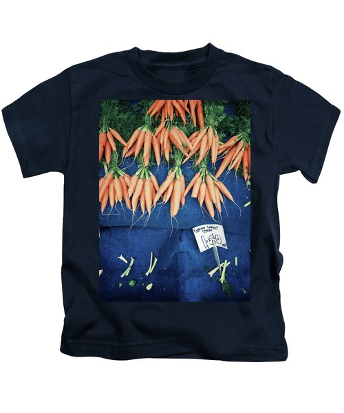 Carrots At The Market Kids T-Shirt by Tom Gowanlock