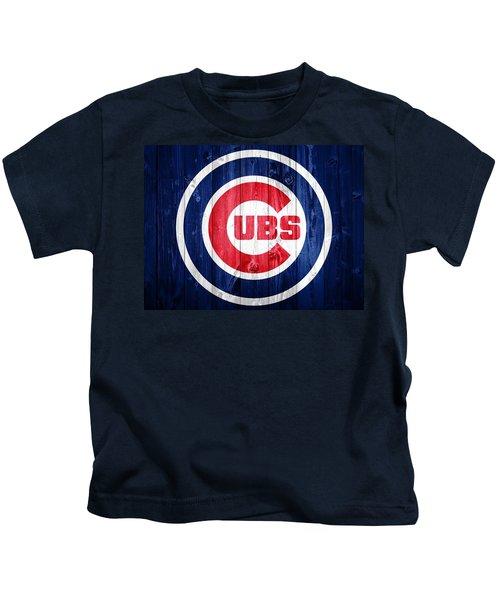 Chicago Cubs Barn Door Kids T-Shirt by Dan Sproul
