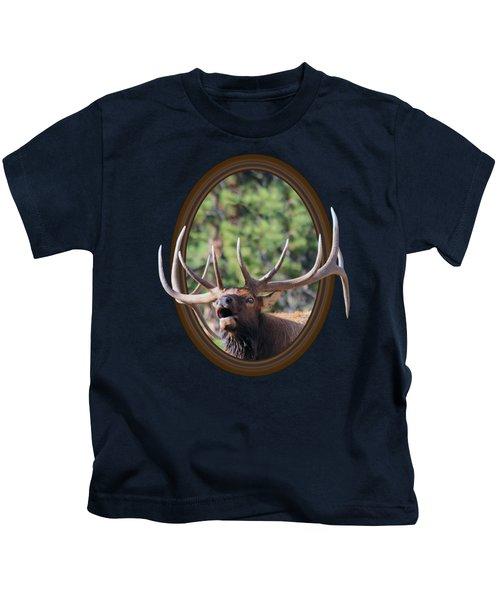 Colorado Bull Elk Kids T-Shirt by Shane Bechler