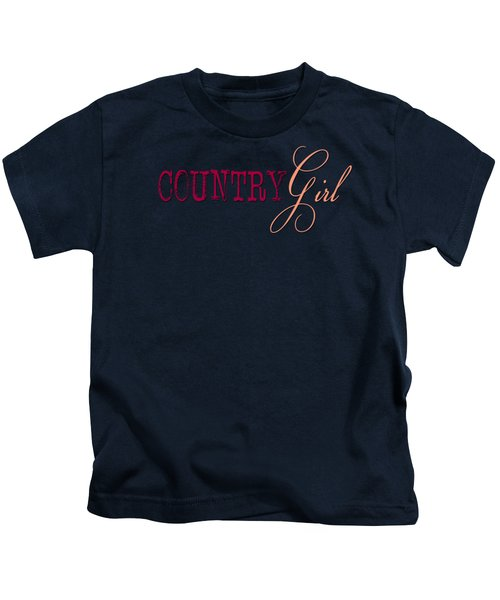 Country Girl Kids T-Shirt by Liesl Marelli