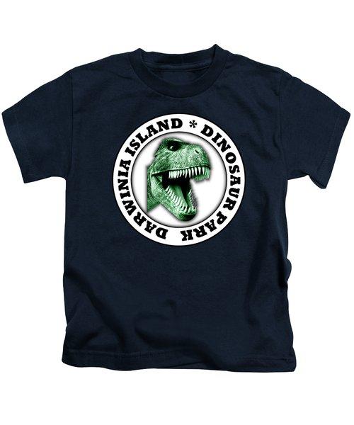 Dinosaur Park Kids T-Shirt by Gaspar Avila