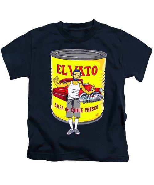 El Vato - Abe Kids T-Shirt by Armando Padilla