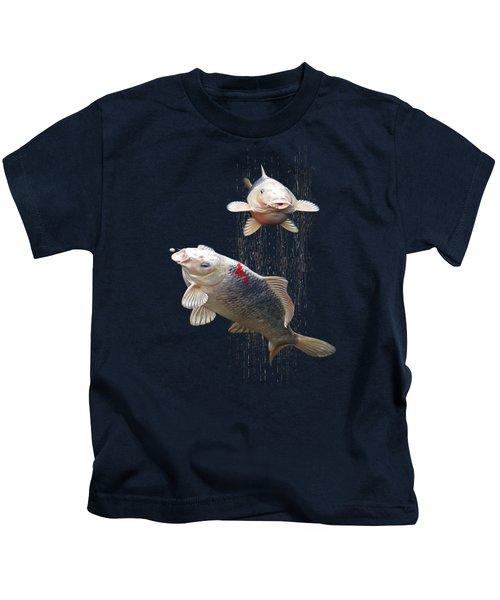 Feeding The Koi Kids T-Shirt by Gill Billington