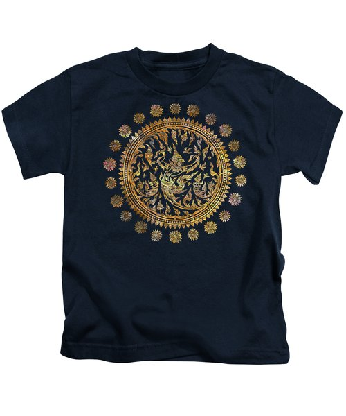Garuda's Golden Victory - Color Edition Kids T-Shirt by David Ardil