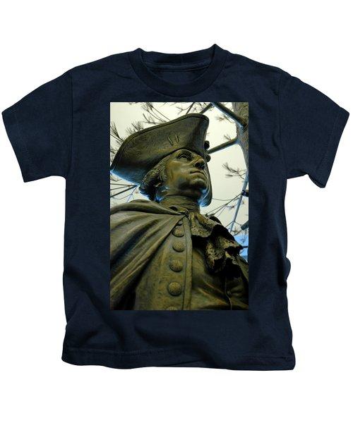 General George Washington Kids T-Shirt by LeeAnn McLaneGoetz McLaneGoetzStudioLLCcom