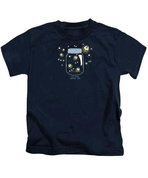 Get Your Shine On Kids T-Shirt by Heather Applegate