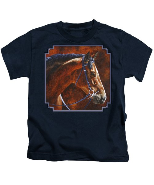 Horse Painting - Ziggy Kids T-Shirt by Crista Forest