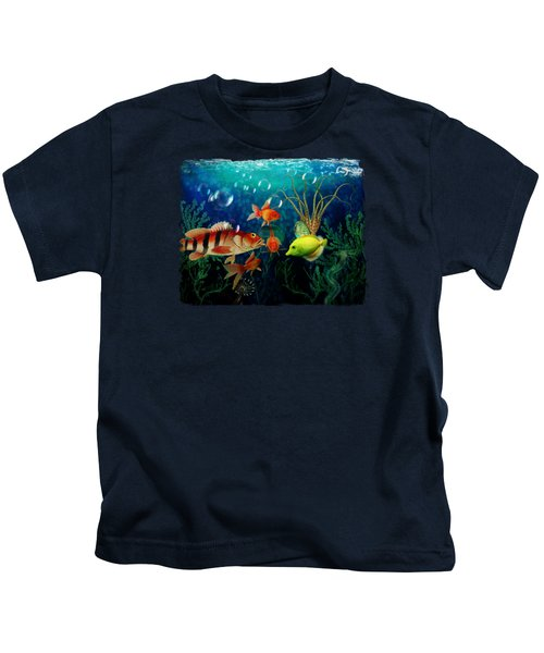 Joy To The Fishes  Kids T-Shirt by Terry Fleckney