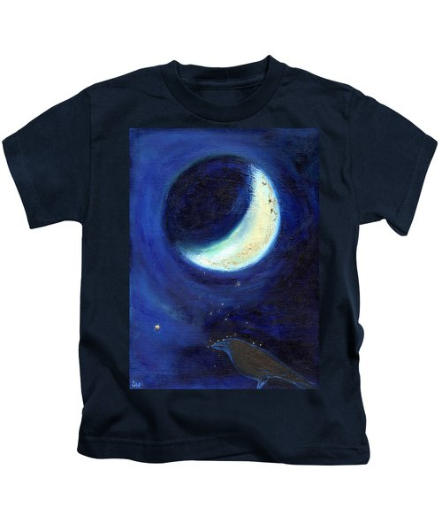 July Moon Kids T-Shirt by Nancy Moniz