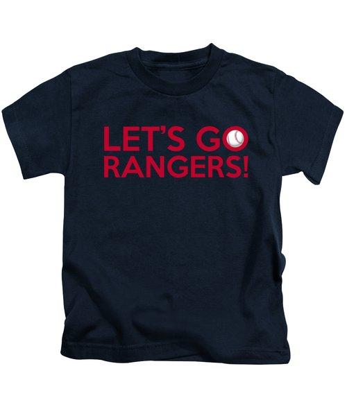 Let's Go Rangers Kids T-Shirt by Florian Rodarte