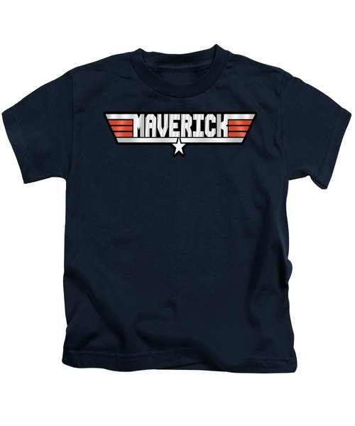 Maverick Callsign Kids T-Shirt by Fernando Miranda