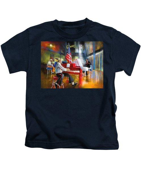 Memphis Nights 04 Kids T-Shirt by Miki De Goodaboom