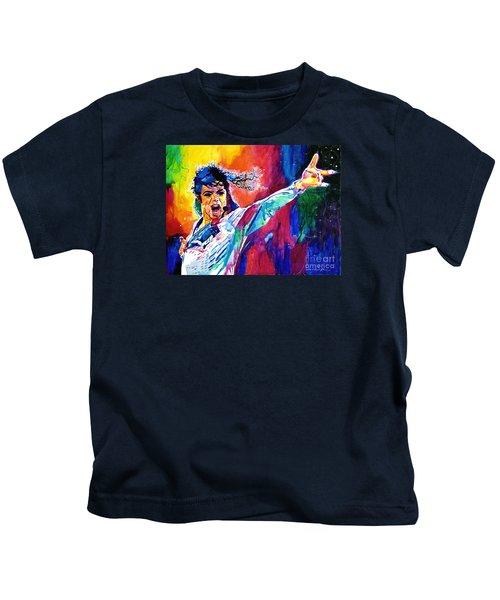 Michael Jackson Force Kids T-Shirt by David Lloyd Glover