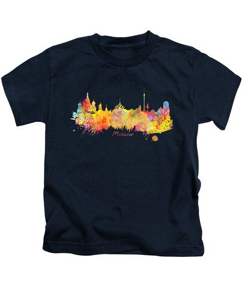 Moscow Skyline  Kids T-Shirt by Justyna JBJart
