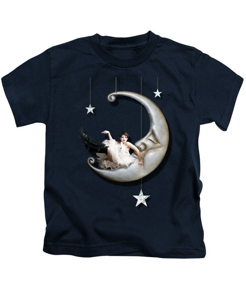 Paper Moon Kids T-Shirt by Linda Lees