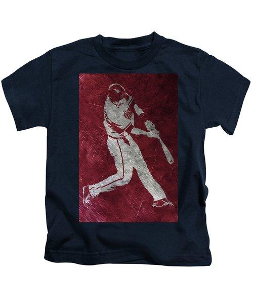 Paul Goldschmidt Arizona Diamondbacks Art Kids T-Shirt by Joe Hamilton