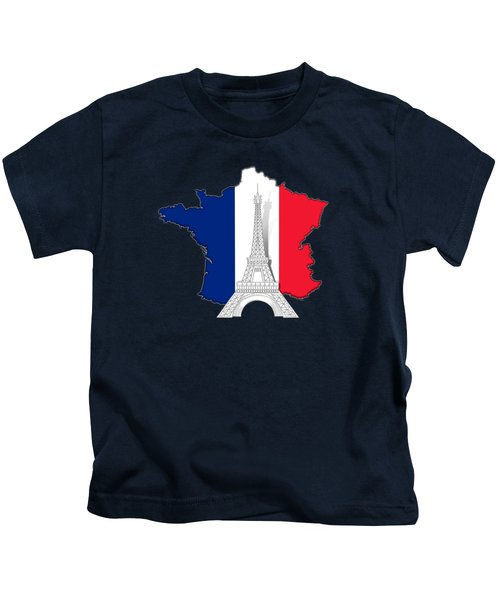 Pray For Paris Kids T-Shirt by Bedros Awak