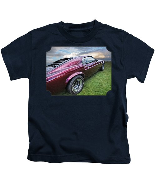 Rich Cherry - '69 Mustang Kids T-Shirt by Gill Billington